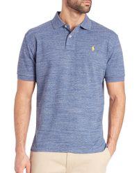 Polo Ralph Lauren   Heathered Polo Shirt   Lyst