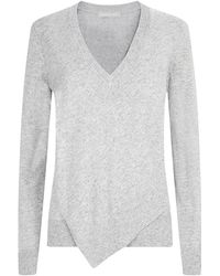 Michael Kors Asymmetric Cashmere Blend Sweater - Lyst