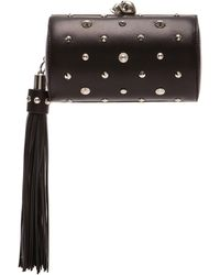 Alexander McQueen North South Skull Studded Nappa Clutch - Lyst
