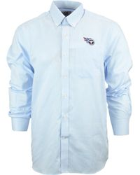 Cutter & Buck Men'S Tennessee Titans Tattersall Dress Shirt - Lyst