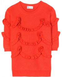 RED Valentino Wool Knitted Sweater - Lyst