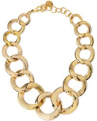 Nest - Hammered Gold-plated Chain Link Necklace - Lyst