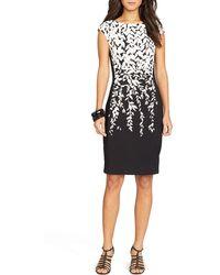 Ralph Lauren Lauren Petites Dress - Printed Jersey - Lyst
