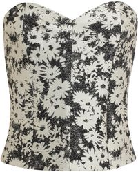 Stella McCartney Floral Jacquard Cotton Bustier - Lyst