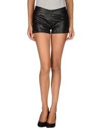 Aphero Black Shorts - Lyst