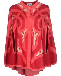 Alice By Temperley Cloak red - Lyst