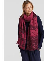 Eileen Fisher - Airy Linen Cashmere Jacquard Scarf - Lyst