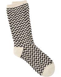 Eileen Fisher - Cozy Viscose Blend Chevron Sock - Lyst