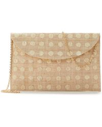 Eileen Fisher - Woven Straw Kayu For Tulum Clutch - Lyst