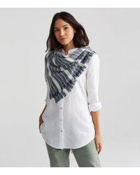 Eileen Fisher - Organic Cotton Wool Diamond Stripe Scarf - Lyst