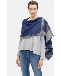 Eileen Fisher - Organic Cotton Reversible Scarf - Lyst