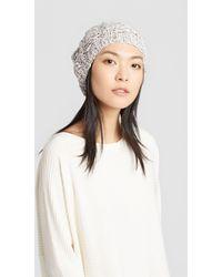 Eileen Fisher - Peruvian Organic Cotton Twist Pompom Hat - Lyst