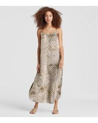 Eileen Fisher - Exclusive Natural-dyed Silk Cotton Maxi Dress - Lyst