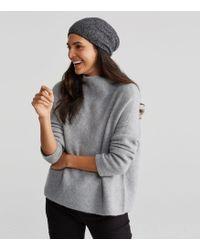 Eileen Fisher - Cashmere Silk Bliss Ministripe Hat - Lyst