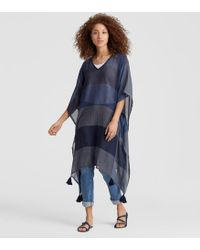 Eileen Fisher - Exclusive Organic Cotton Colorblock Poncho - Lyst