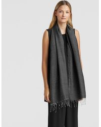 Eileen Fisher - Handloomed Organic Cotton Silk Scarf - Lyst
