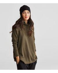 Eileen Fisher - Stretch Fleece Slouchy Hat - Lyst