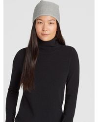 f6c7d41728576 Eileen Fisher - Lofty Recycled Cashmere Striped Hat - Lyst