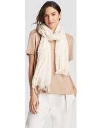 Eileen Fisher - Organic Cotton Fringe Scarf - Lyst