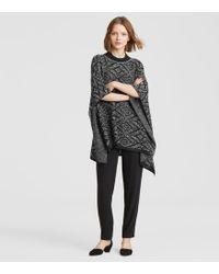 Eileen Fisher - Organic Linen Knit Poncho - Lyst