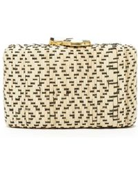 Eileen Fisher - Woven Straw Kayu For Indie Clutch - Lyst