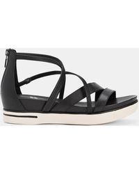 Eileen Fisher - Skip Washed Leather Trainer Sandal - Lyst