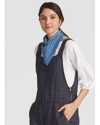 Eileen Fisher - Melody Printed Organic Cotton Bandana - Lyst