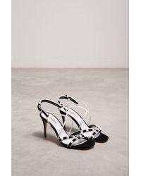 fa85b7dc2 Valentino Rockstud Sandals in Natural - Lyst