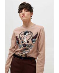 Valentino - Tattoo Intarsia Sweater - Lyst