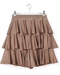 Balmain - Ruffled Skirt - Lyst