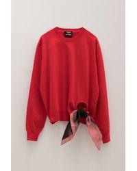 CALVIN KLEIN 205W39NYC - Scarf Detail Sweater - Lyst