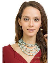 1be8dd6d670a Elaine Turner - Iraida Necklace In Powder Blue - Lyst