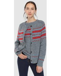 indi & cold - Long Sleeve Printed Cardigan - Lyst