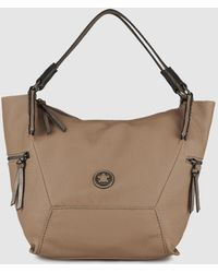 Caminatta - Taupe Shopper Bag With Outer Pockets - Lyst