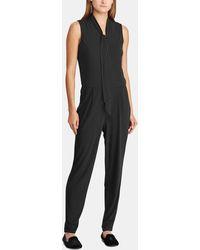 fc40ffa28965 Lyst - Lauren by Ralph Lauren V-neck Halter Jumpsuit in Black
