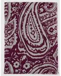El Corte Inglés - El Corte Ingles Maroon Paisley Print Cotton Foulard - Lyst