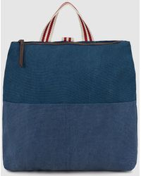 Green Coast - Wo Blue Denim Canvas Backpack With Two-tone Straps - Lyst