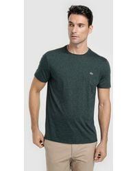Lacoste - Basic Green T-shirt - Lyst
