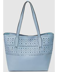 Pepe Moll - Blue Tote Bag With Cutwork - Lyst