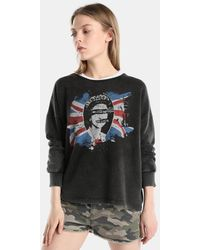Green Coast - Long Sleeve Sweatshirt With A Front Print - Lyst