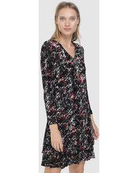 Escolá - Short V-neck Dress - Lyst