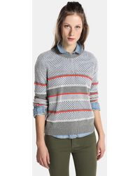 Green Coast - Openwork Sweater With Stripes - Lyst