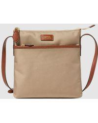 16b4b7de903 Lauren by Ralph Lauren - Wo Beige Nylon Crossbody Bag With An Outer Pocket  - Lyst