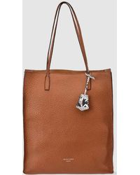 Gloria Ortiz - Robyn Brown Grained Leather Tote With Pendant - Lyst