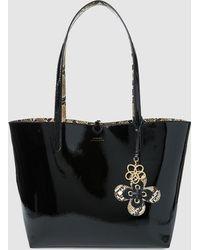 518afeb05e40 Lauren by Ralph Lauren - Reversible Tote Bag In Black And Leopard Print -  Lyst