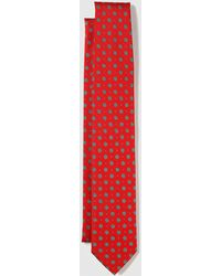 Mirto - Red Silk Tie With A Fantasy Print - Lyst