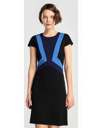 Yera - Short Dress With Colour Block Print - Lyst