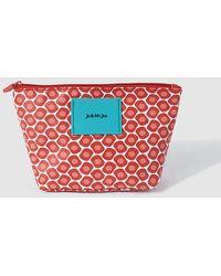 9d189a7b745e67 Jo   Mr. Joe - Orange Printed Toiletry Bag With Zip - Lyst