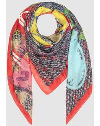 Guess - Multicoloured Printed Handkerchief - Lyst