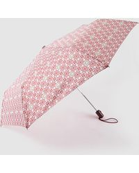 Caminatta - Long Umbrella With Red Geometric Print - Lyst